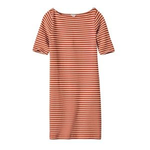 Fossil Addison Orange Stripe Dress Size XS